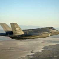 On the bubble: An F-35 stealth jet is seen in this undated file photo provided by manufacturer Lockheed Martin. | KYODO PHOTOS