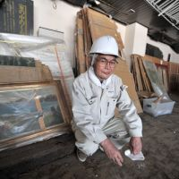 Fumito Honda, former director of the Rikuzentakata City Museum, which was inundated by the March 11 tsunami, has come out of retirement to return as a volunteer and help coordinate efforts to recover the museum's collection. | YOSHIAKI MIURA