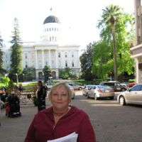 On a mission: Caethe Goetz stands outside the California State Assembly in Sacramento, where she testified about her struggle to receive appropriate medical care in 2010. | INTERNATIONAL MYELOMA FOUNDATION
