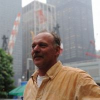 Helping hands: Charlie Vitchers, seen in front of the World Trade Center site July 8, reflects on his nine months as a supervisor of the ground zero cleanup after the Sept. 11, 2001, terrorist attacks and his goal of helping victims of the March 11 tsunami rebuild. | KYODO