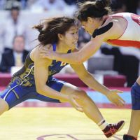 Freestyle wrestler Saori Yoshida aims to win her third straight gold medal at the Summer Games. | KYODO PHOTOS