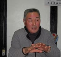 Speaking out: Chuhei Sakai, a farmer in Iwaki, Fukushima Prefecture, speaks to The Japan Times on Feb. 22. | MIZUHO AOKI