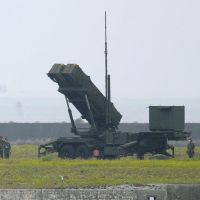 Let the show begin: A PAC-3 antimissile battery is deployed Thursday in Ishigaki, Okinawa Prefecture. | KYODO