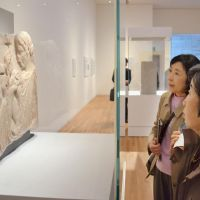Beholders: Visitors admire artworks in a touring exhibition by the Louvre Museum that opened Friday at the Iwate Museum of Art in Morioka, Iwate Prefecture, with the aim of lifting spirits among Tohoku's disaster victims and displaying France's support. | KYODO