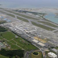 Global designs: Okinawa's Naha airport, seen April 28, is expected to gain approval soon to build a second runway. | KYODO