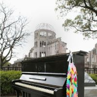 Still upright: 'Kazuko's piano,' which survived the 1945 U.S. atomic bombing of Hiroshima, will have its ivories tickled in Tokyo on Sunday. | KYODO