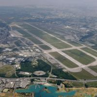 Forward-projected: U.S. Air Force Kadena Air Base in Okinawa, seen in March 2010, is a sprawling installation. | KYODO
