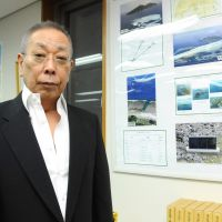 Land deal: Hiroyuki Kurihara, whose brother holds title to the Senkaku Islands, is interviewed Tuesday at his office in Minato Ward, Tokyo. | SATOKO KAWASAKI