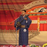 Cultural preservation: Japanese-Brazilian Akira Uema performs an Okinawan song at a folk festival in Sao Paulo in 2007. courtesy of akira uema