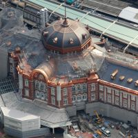 All aboard: The Tokyo Station Marunouchi Building, shown here on April 4, has been undergoing renovation since 2007. | KYODO