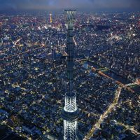 Points of light: Tokyo Skytree is illuminated entirely with LED bulbs. | KYODO