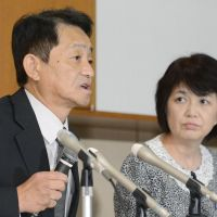 Life in the hermit kingdom:  Yasushi Chimura and his wife, Fukie, kidnapped by North Korean agents in 1978, talk to reporters in the city of Obama, Fukui Prefecture, on Oct. 4. | KYODO