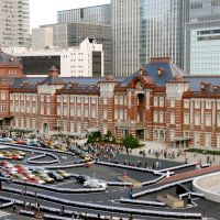Flash to the past: Tokyo Station's Marunouchi building is shown off Oct. 16 following five years of renovations that have returned its appearance to its heyday when it opened in 1914 (below). | SATOKO KAWASAKI / KYODO