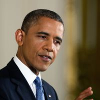 Pivot point: U.S. President Barack Obama attends a news conference at the White House on Wednesday. | AFP