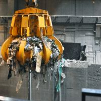 Burning issue: Debris generated in Iwate Prefecture by the March 2011 tsunami is moved to an incinerator at a waste-processing plant in Konohana Ward, Osaka, for a test run Nov. 29. | KYODO
