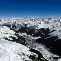 The wintry mountain landscape of the ski area of Davos, Switzerland. | SWISS-IMAGE CH