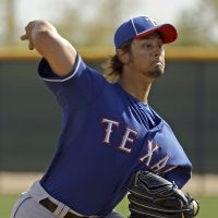 Good stuff: Texas Rangers hurler Yu Darvish fires a pitch at spring training on Wednesday in Surprise, Arizona. | AP