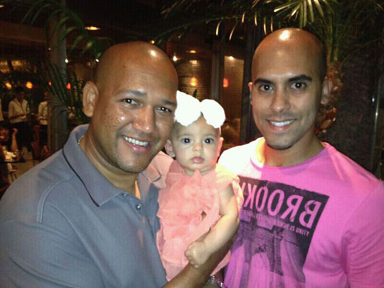 Family man BayStars slugger Alex Ramirez spends time with son Alex Jr. and granddaughter Charlee. | ALEX RAMIREZ