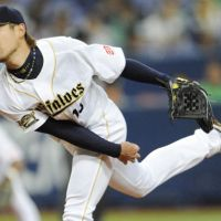 Rock solid: Orix Buffaloes starter Chihiro Kaneko tossed seven scoreless innings against the Fukuoka Softbank Hawks on Friday at Kyocera Dome. | KYODO