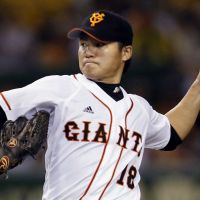 Question mark: Toshiya Sugiuchi hopes to be healthy enough to pitch for the Yomiuri Giants in the Japan Series. | KYODO