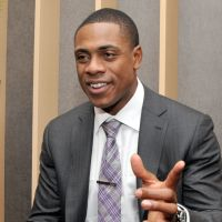 Class personified: Curtis Granderson, the center fielder for the New York Yankees, speaks to The Japan Times during an exclusive interview on Thursday in Tokyo. | YOSHIAKI MIURA
