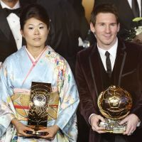 Nadeshiko Japan star Homare Sawa, who led the team to a Women's World Cup title last year, and Argentina and Barcelona forward Lionel Messi are named FIFA Players of the Year at an awards ceremony in Zurich on Monday. | AP PHOTO