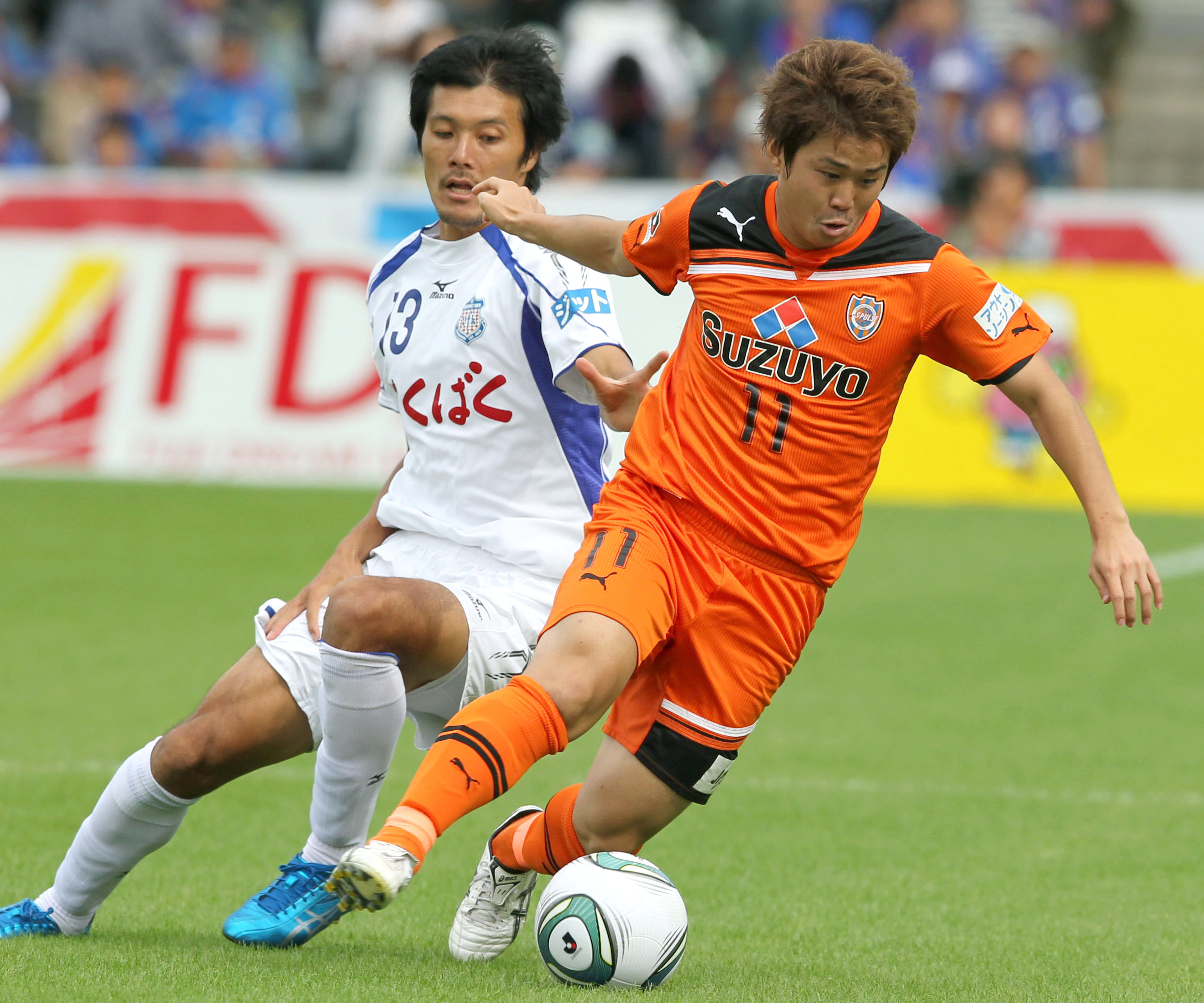 Stepping up: Shimizu S-Pulse is counting on forward Genki Omae (right) for a strong contribution this season in the J.?League. | KYODO