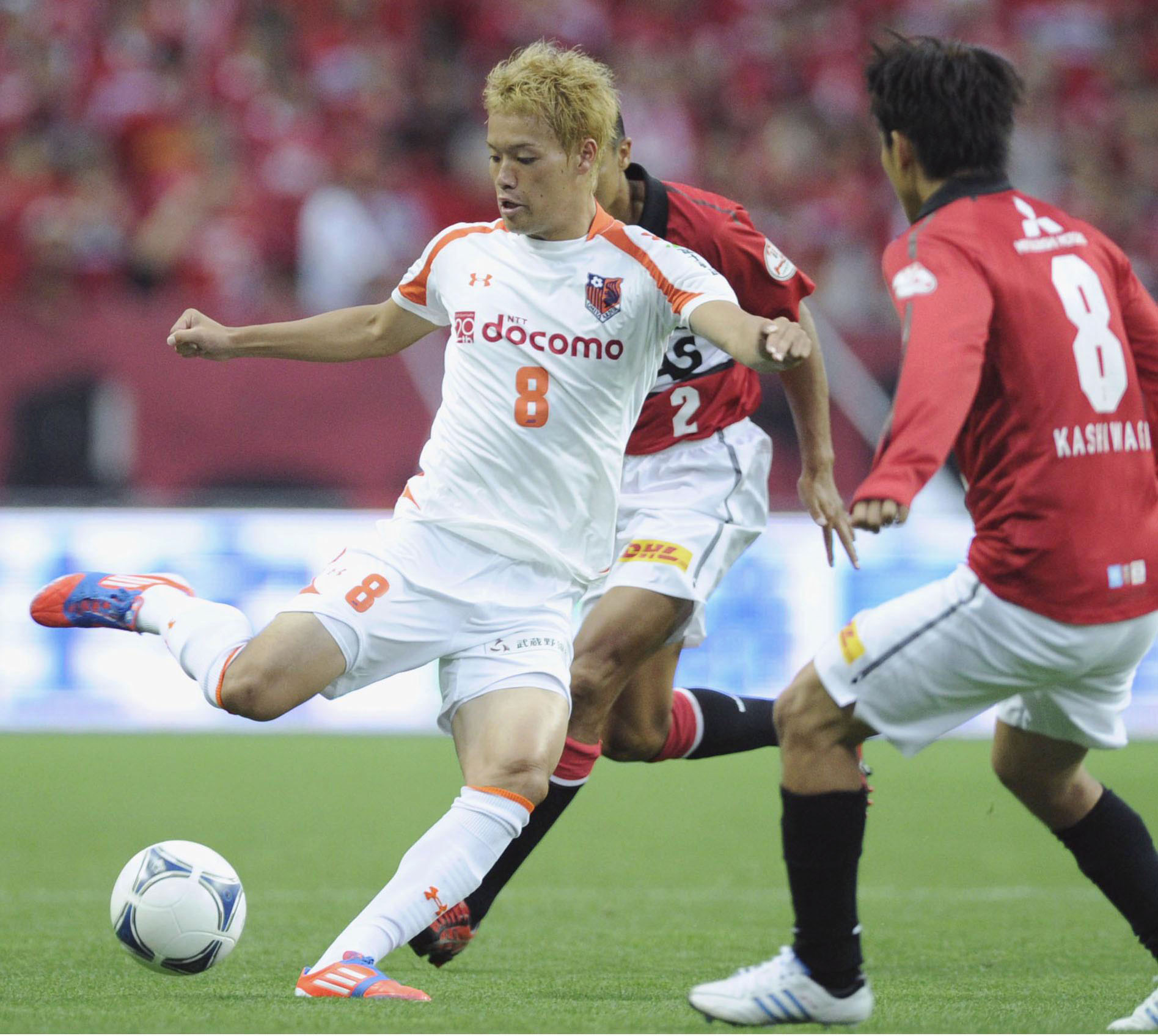 Ambitious: Omiya Ardija midfielder Keigo Higashi, a member of Japan's Olympic team, hopes to play abroad after helping the club become a contender in the J. League. | KYODO