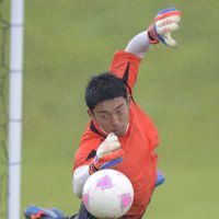National service: FC Tokyo goalkeeper Shuichi Gonda helped Japan reach the semifinals at last year's London Olympics. | KYODO