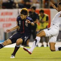 Final preparations: Japan's Yuki Otsu controls the ball in Wednesday's friendly against New Zealand at National Stadium. The match ended in a 1-1 draw. | AP