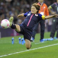 Captain Aya Miyama helped lead Japan to a 2-0 win and a spot in the Olympic semifinals.