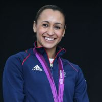Glorious finish: Heptathlon champion Jessica Ennis of Britain excited the home crowd at the Olympic Stadium with her stirring victory in competition's final event — the 800 meters. | AP