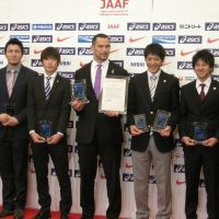 Murofushi, Olympic teammates honored at JAAF Athletic Awards