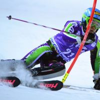 Dark horse: Naoki Yuasa competes in the World Cup slalom at Madonna di Campiglio, Italy, on Tuesday. | AFP-JIJI