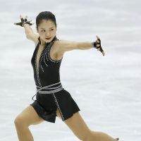 Star on ice: Akiko Suzuki earns 65.09 points in the women's short program at the Japan Figure Skating National Championships on Saturday in Sapporo. | KYODO