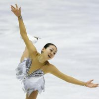 Happy ending: Mao Asada performs her free-skate routine at the national championships in Sapporo on Sunday. | KYODO