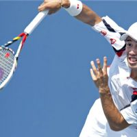 Good challenge: Kei Nishikori leads Japan against Israel in this weekend's Davis Cup competition in Tokyo. | AFP-JIJI