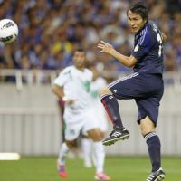 Key player: Japan striker Ryoichi Maeda scored a 25th-minute header in Tuesday's match against Iraq. | KYODO