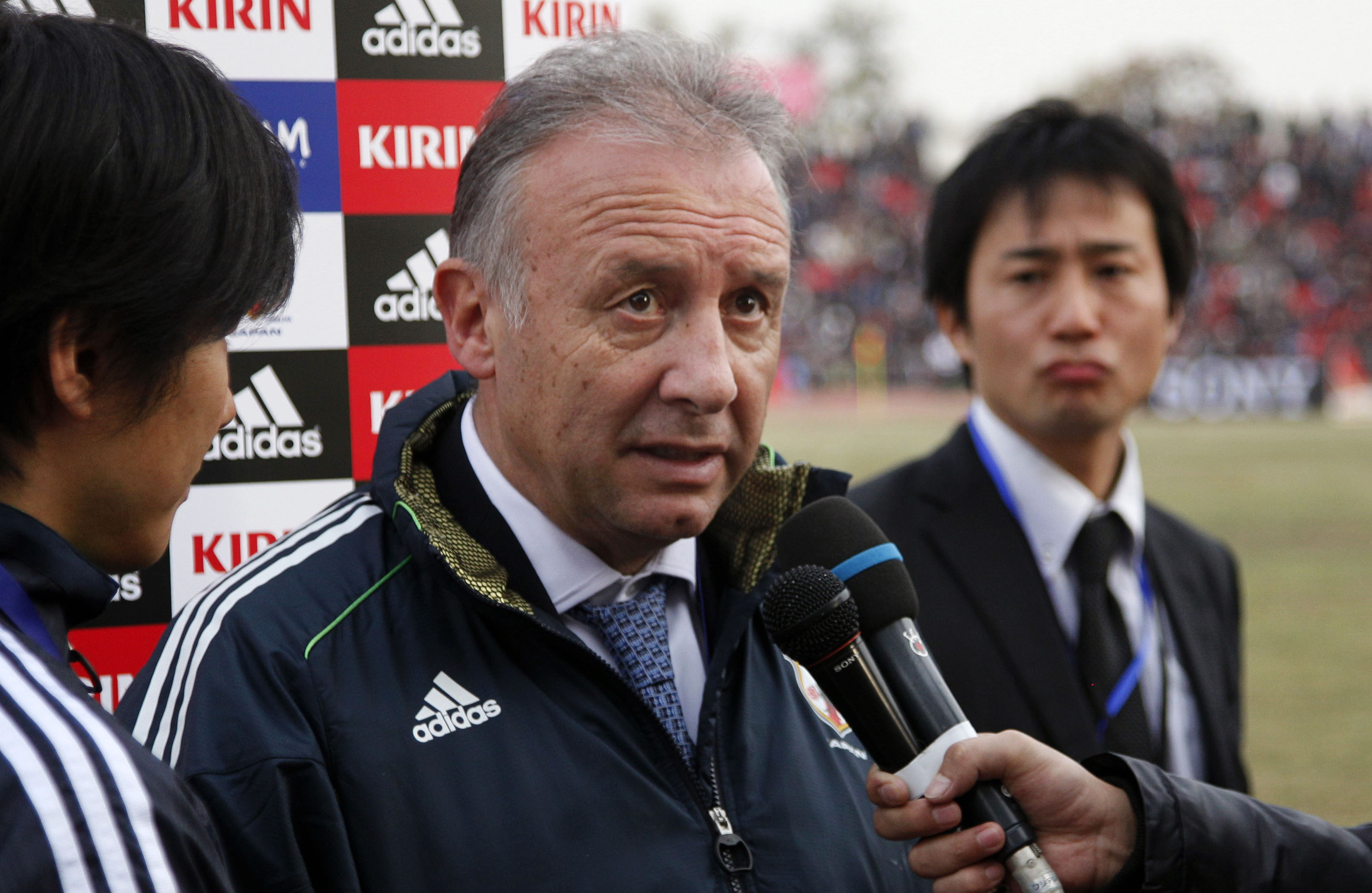 Job in hand: National team manager Alberto Zaccheroni wants Japan to qualify for the 2014 World Cup as early as possible. | AP