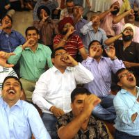India's giggling guru counsels laughing yourself to good health