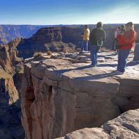 Natural wonder:  Tourists visit the Hualapai Indian Reservation at the western end of the Grand Canyon in Arizona. | AP