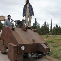 Rebels debut PlayStation-controlled 'DIY tank'