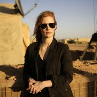 Target, acquired: Jessica Chastain, seen in a publicity still from the film 'Zero Dark Thirty,' portrays a composite character based on a real-life CIA operative who played a key role in the hunt for al-Qaida leader Osama bin Laden. | AP