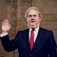 Supreme disappointment: Judge Robert Bork is sworn in at his confirmation hearing to be an associate justice of the Supreme Court on Capitol Hill in September 1987. | AP