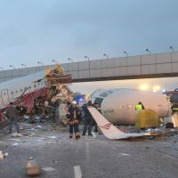 Plane crashes into Moscow highway; four dead