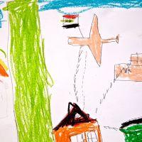 Lost innocence: Art drawn by children often reflects the violence they witnessed in Syria. | THE WASHINGTON POST
