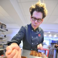 Shifting tastes: Laurent Gerbaud makes chocolate at his workshop in Brussels in December. | AFP-JIJI