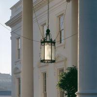 Light years ahead: The lantern that hangs over the White House's north portico is an electric-powered lamp first installed in 1902. | THE WASHINGTON POST