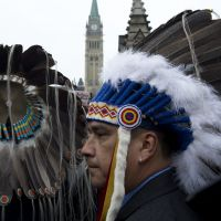 Native Canadians press for improved treaty rights