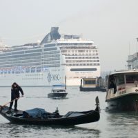 Cruise ship 'monsters' stir discord in Venice
